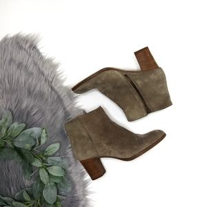 J. Crew Aggie Suede Leather Ankle Boot